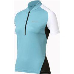Odlo Koszulka Stand-up collar s/s 1/2 zip Actiona turkusowa r. M (410631). Bluzki damskie Odlo. Za 86.69 zł.