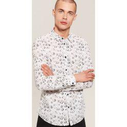 Koszula Mickey Mouse - Biały. Białe koszule męskie House, z motywem z bajki. Za 99.99 zł.