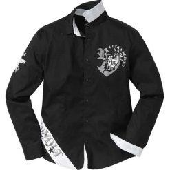 Koszula z długim rękawem Slim Fit bonprix czarny. Koszule męskie marki Giacomo Conti. Za 49.99 zł.