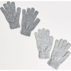 Rękawiczki - Jasny szar. Szare rękawiczki damskie Sinsay. Za 14.99 zł.