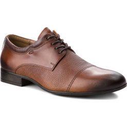 Półbuty LASOCKI FOR MEN - MI08-C240-286-01 Brown. Brązowe eleganckie półbuty Lasocki For Men, z materiału. Za 179.99 zł.