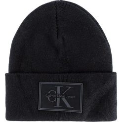 Czapka CALVIN KLEIN JEANS - J Re-Issue Beanie K50K503426  001. Czarne czapki i kapelusze męskie Calvin Klein Jeans. W wyprzedaży za 159.00 zł.