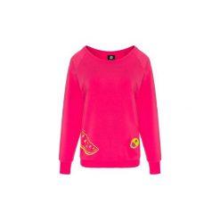 Bluza Simple Pink Watermelon. Czerwone bluzy damskie Zookiwear, z aplikacjami. Za 160.00 zł.