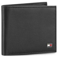 Duży Portfel Męski TOMMY HILFIGER - Eton Mini Cc Wallet AM0AM00655/83365 Black 002. Czarne portfele męskie Tommy Hilfiger, ze skóry. Za 229.00 zł.