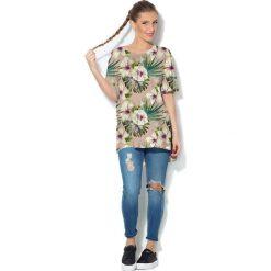 Colour Pleasure Koszulka CP-033  161 beżowo-zielono-ecru r. uniwersalny. Bluzki damskie Colour Pleasure. Za 76.57 zł.