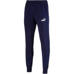 Puma Ess Logo Pants Tr Cl Peacoat Xxl. Niebieskie spodnie sportowe męskie Puma, z dresówki. Za 165.00 zł.