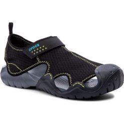 Sandały CROCS - Swiftwater Sandal M 15041 Black/Charcoal. Czarne sandały męskie Crocs, z materiału. W wyprzedaży za 169.00 zł.