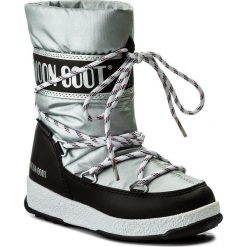 Śniegowce MOON BOOT - We Sport Jr Wp 34051300001 Argento-Nero. Śniegowce dziewczęce Moon Boot, z materiału. W wyprzedaży za 249.00 zł.
