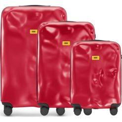 Walizki Icon w zestawie 3 el. matowy czerwony. Walizki męskie Crash Baggage, z materiału. Za 2,628.00 zł.