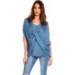 e6d3cb4814 Jedwabna tunika w kolorze niebieskim. Niebieskie tuniki damskie marki Silk  Premium