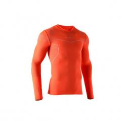 Koszulka termoaktywna długi rękaw dla dorosłych Kipsta Keepdry 500. Czerwone koszulki sportowe męskie KIPSTA, z elastanu, z długim rękawem. Za 49.99 zł.