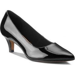 Półbuty CLARKS - Linvale Jerica 261381974 Black Patent Leather. Czarne półbuty damskie Clarks, z materiału. W wyprzedaży za 229.00 zł.