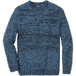 Sweter melanżowy Regular Fit bonprix niebiesko-czarny melanż. Niebieskie swetry przez głowę męskie bonprix, melanż. Za 99.99 zł.