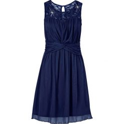 Sukienka z koronką bonprix ciemnoniebieski. Niebieskie sukienki damskie bonprix, w koronkowe wzory, z koronki. Za 89.99 zł.