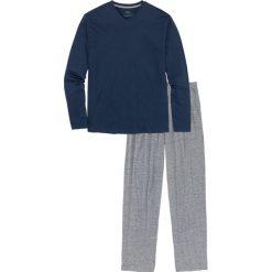 Piżama bonprix ciemnoniebiesko-szary melanż. Szare piżamy męskie bonprix, melanż. Za 49.99 zł.