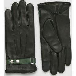 Calvin Klein - Rękawiczki skórzane. Czarne rękawiczki męskie Calvin Klein, z materiału. Za 349.90 zł.