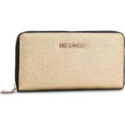 Duży Portfel Damski LOVE MOSCHINO - JC5552PP16LQ0901 Oro. Żółte portfele damskie Love Moschino, ze skóry ekologicznej. W wyprzedaży za 259.00 zł.