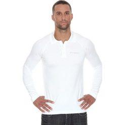 Brubeck Koszulka męska polo Prestige z długim rękawem biała r. L (LS10620). Koszulki sportowe męskie Brubeck, z długim rękawem. Za 215.89 zł.