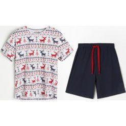 Piżama - Granatowy. Niebieskie piżamy męskie Reserved. Za 79.99 zł.
