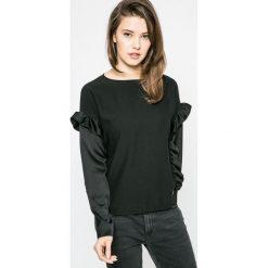 Trussardi Jeans - Bluzka. Szare bluzki damskie TRUSSARDI JEANS, z jeansu, casualowe, z okrągłym kołnierzem. W wyprzedaży za 539.90 zł.