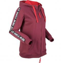 Bluza bawełniana rozpinana, długi rękaw bonprix czerwony rododendron. Bluzy damskie marki KALENJI. Za 99.99 zł.