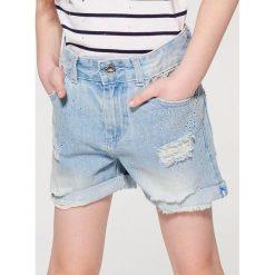 Luźne jeansowe szorty dla dziewczynki little princess - Niebieski. Spodenki dla dziewczynek Mohito, z jeansu. W wyprzedaży za 49.99 zł.