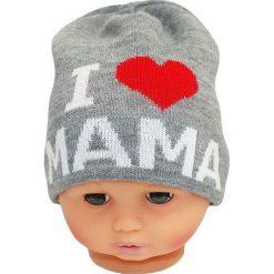 Czapka niemowlęca z napisem mama CZ 161A szara. Czapki dla dzieci marki Reserved. Za 30.75 zł.