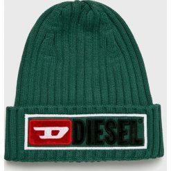 Diesel - Czapka. Szare czapki i kapelusze męskie Diesel. Za 239.90 zł.