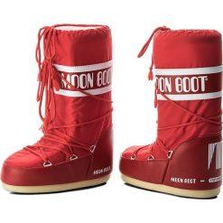 Śniegowce MOON BOOT - Nylon 14004400003 Rosso D. Czerwone kozaki damskie Moon Boot, z materiału. Za 359.00 zł.