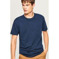 T-shirt z bawełny organicznej - Granatowy. T-shirty męskie marki Giacomo Conti. W wyprzedaży za 29.99 zł.