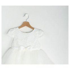 Biała Sukienka Princess Royal. Białe sukienki niemowlęce Born2be, z bawełny. Za 64.99 zł.