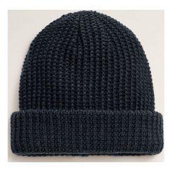 Mango Man - Czapka Beanie. Czarne czapki i kapelusze męskie Mango Man. Za 69.90 zł.