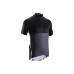 Koszulka na rower MTB ST 500 V2. Czarne koszulki sportowe męskie B'TWIN, z elastanu. Za 79.99 zł.