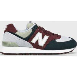 New Balance - Buty ML574INE. Szare buty sportowe męskie New Balance, z gumy. W wyprzedaży za 299.90 zł.