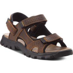 Sandały GINO ROSSI - Cree MN2662-TWO-BN00-3700-T 92. Brązowe sandały męskie Gino Rossi, z materiału. W wyprzedaży za 149.00 zł.