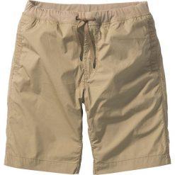Bermudy z wygodnym paskiem bonprix beżowy. Brązowe szorty męskie bonprix. Za 79.99 zł.