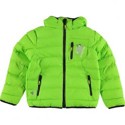Kurtka zimowa w kolorze jaskrawozielonym. Zielone kurtki i płaszcze dla chłopców Peak Mountain, na zimę. W wyprzedaży za 172.95 zł.