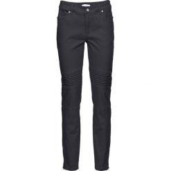 Spodnie ze stretchem SKINNY bonprix ciemnoszary. Szare spodnie materiałowe damskie bonprix. Za 129.99 zł.
