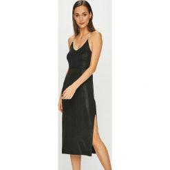 Diesel - Sukienka. Czarne sukienki damskie Diesel, z materiału, casualowe, na ramiączkach. Za 999.90 zł.