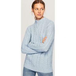 Sweter - Niebieski. Niebieskie swetry damskie Reserved. Za 89.99 zł.