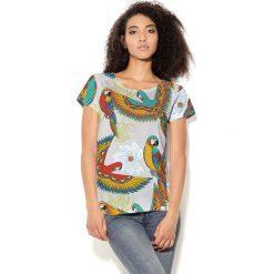 Colour Pleasure Koszulka damska CP-034 70 beżowo-czerwono-żółto-zielona r. XXXL-XXXXL. Bluzki damskie Colour Pleasure. Za 70.35 zł.