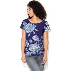 Colour Pleasure Koszulka CP-034 200 granatowo-biała r. XXXL/XXXXL. Bluzki damskie Colour Pleasure. Za 70.35 zł.