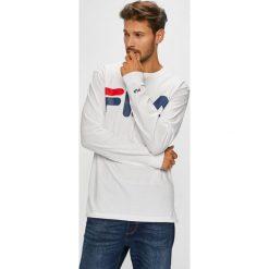 Fila - Longsleeve. Szare bluzki z długim rękawem męskie Fila, z nadrukiem, z bawełny, z okrągłym kołnierzem. W wyprzedaży za 149.90 zł.