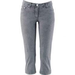 Spodnie ze stretchem 3/4 bonprix dymny szary. Szare spodnie materiałowe damskie bonprix. Za 89.99 zł.