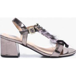 Gioseppo - Sandały. Czarne sandały damskie Gioseppo, z materiału. W wyprzedaży za 199.90 zł.