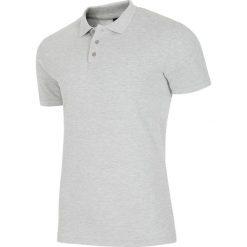 Koszulka polo męska TSM051AZ - JASNY SZARY MELANŻ. Szare koszulki polo męskie 4f, na jesień, melanż, z bawełny. Za 69.99 zł.