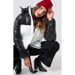 NA-KD Trend Kurtka Puff Block - Black,White,Multicolor. Białe kurtki damskie NA-KD Trend, z materiału. Za 404.95 zł.