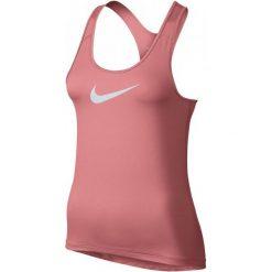 Nike Koszulka Treningowa W Np Tank S. Różowe koszulki sportowe damskie Nike, z materiału, z dekoltem na plecach. W wyprzedaży za 85.00 zł.