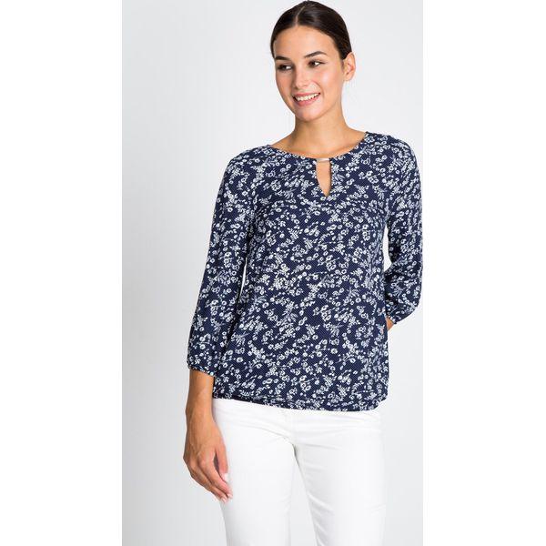 d058bf84ffba Granatowa bluzka w kwiaty QUIOSQUE - Bluzki damskie marki QUIOSQUE ...