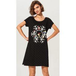 Koszula nocna Snoopy - Czarny. Czarne koszule nocne damskie Reserved. Za 59.99 zł.